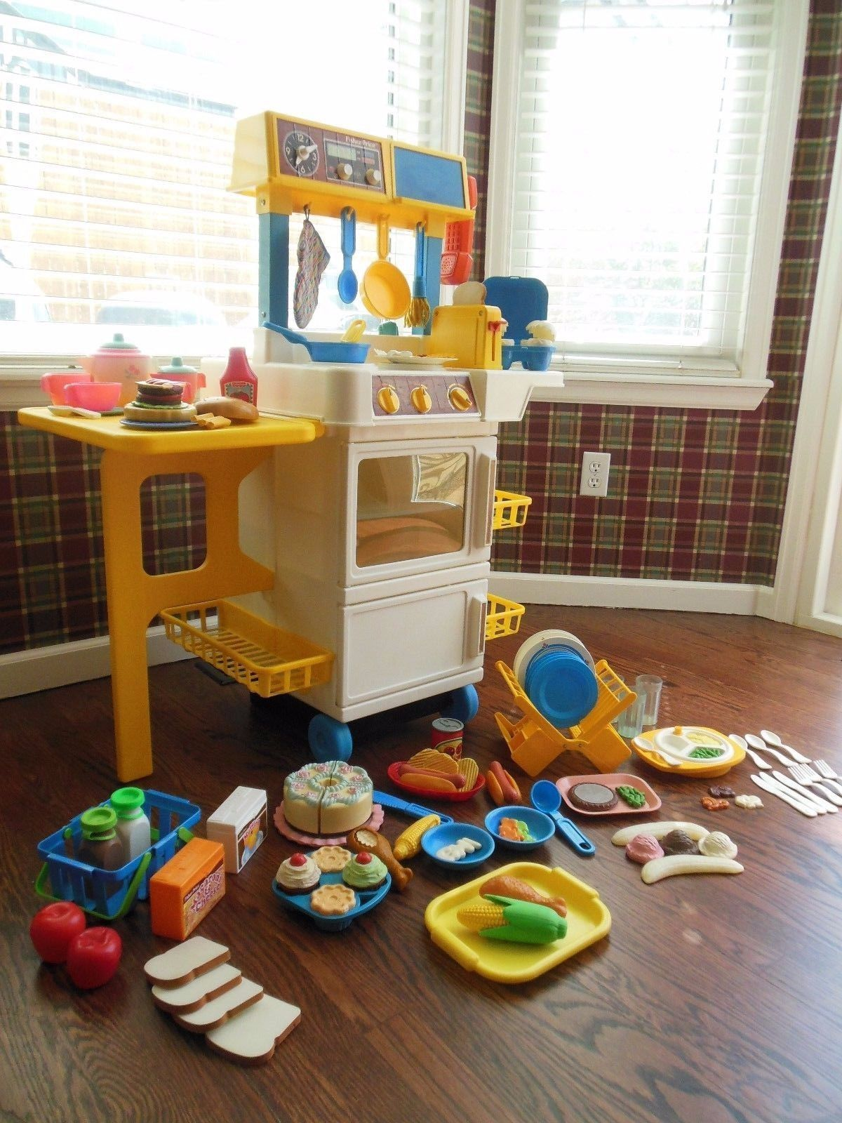Vintage Fisher Price Fun With Food Play Kitchen Accessories Lot Play Kitchen Accessories Kids Play Kitchen Play Kitchen