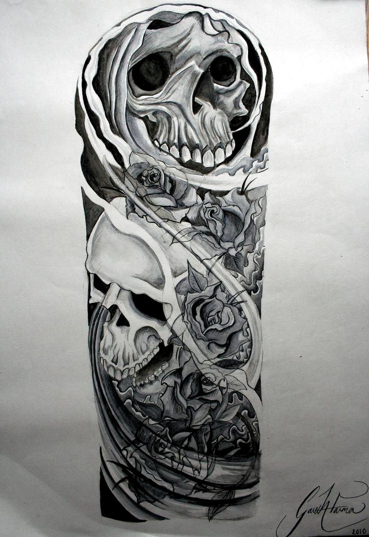 Pin By Rich Shery On Tts In 2020 Skull Sleeve Tattoos Half Sleeve Tattoos Drawings Skull Sleeve