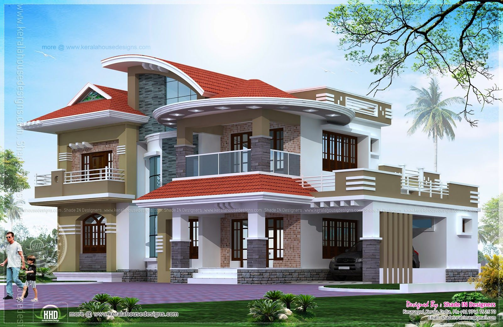 5 Bedroom Luxury House In Kasaragod Beautiful House Plans Luxury House Plans Kerala House Design