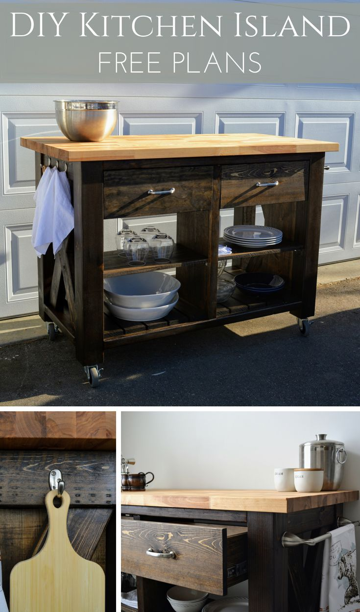 Rustic x kitchen island inspired by pottery barn patterns