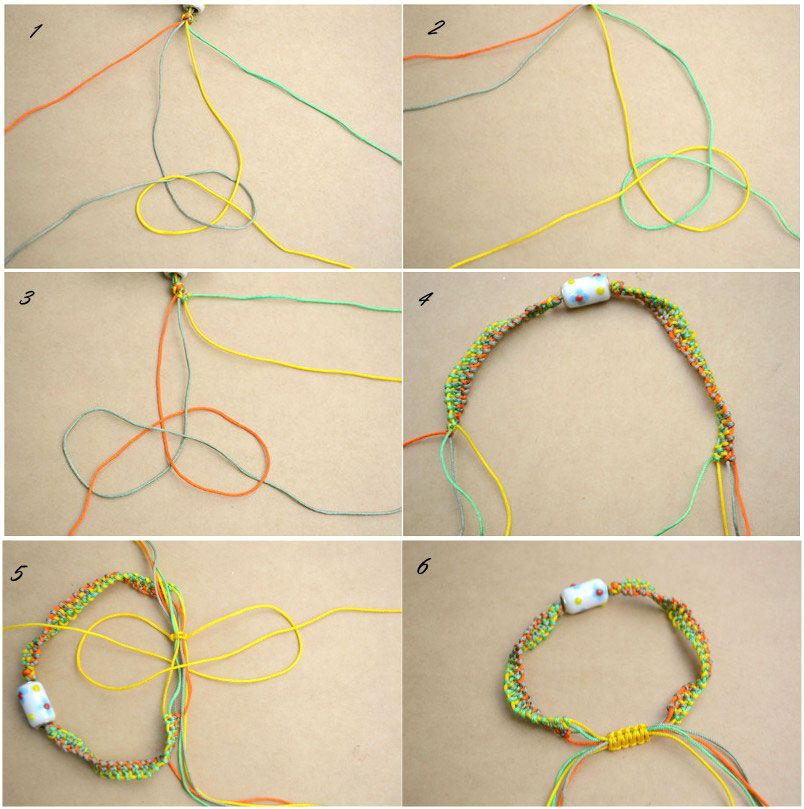 How To Make String Bracelets Step By Step Step By Step Friendship