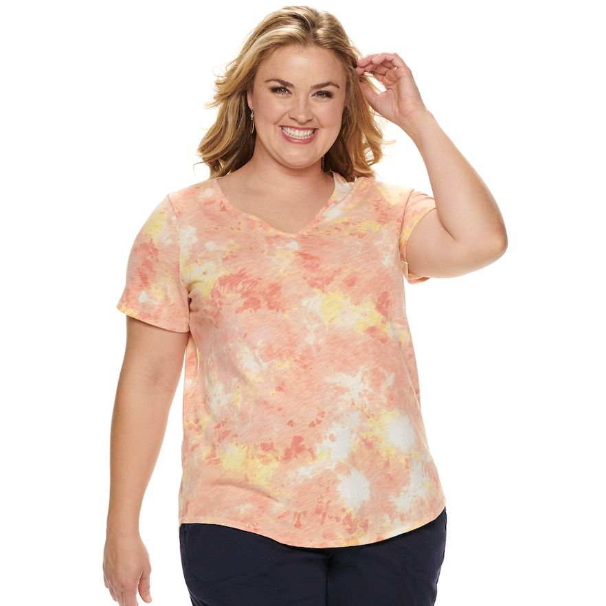 26e58474 NEW! Plus Size EVRI Essential Everyday Tee, Women's, Size: 4XL, Med ...
