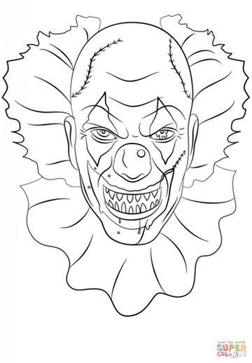 Image result for Scary Clown Coloring Pages | clowns | Pinterest ...