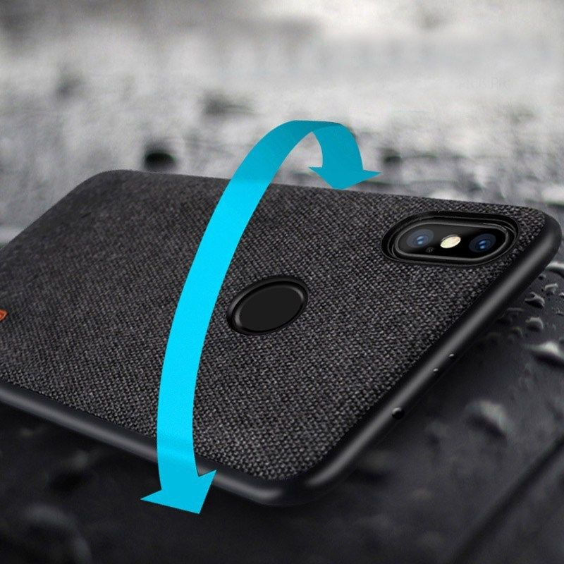 Bakeey Fabric Splice Soft Edge Shockproof Protective Case For Xiaomi Mi A2 Lite Xiaomi Redmi 6 Pro Protective Cases Uganda St Kitts And Nevis