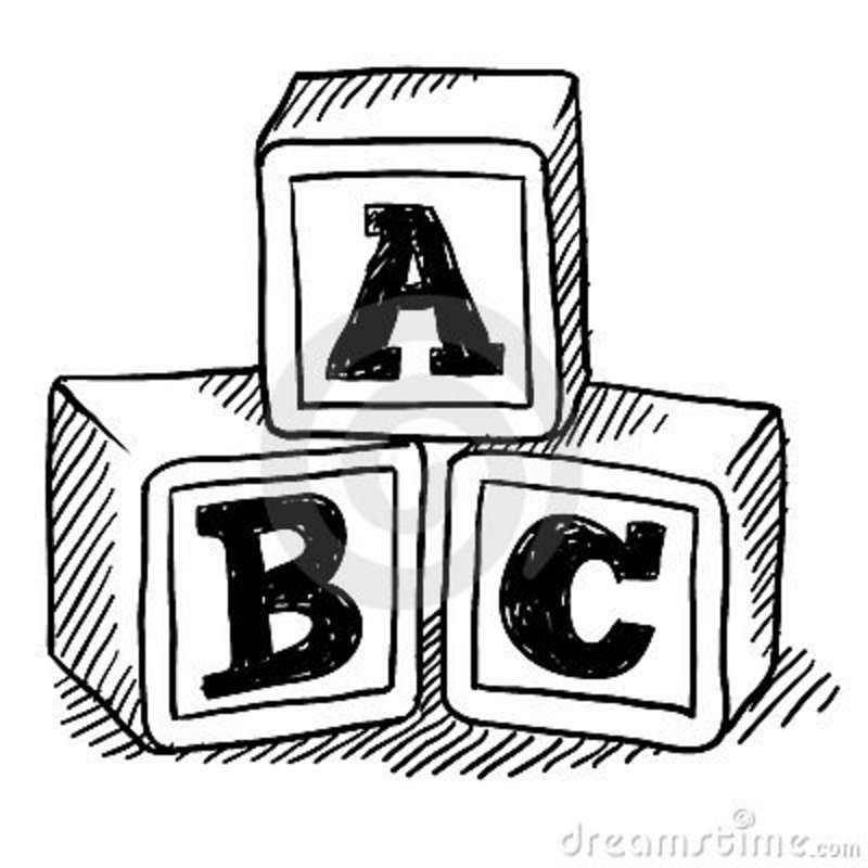 Abc Blocks Drawing Childrens Toy Wallpaper Graphic