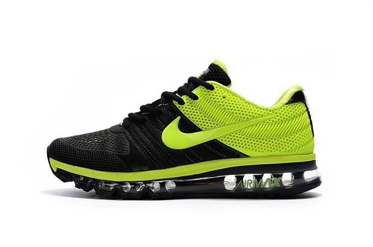 detailed look 6cbe7 880b4 Nike Air Max 2017 Running Men Shoes Black Green