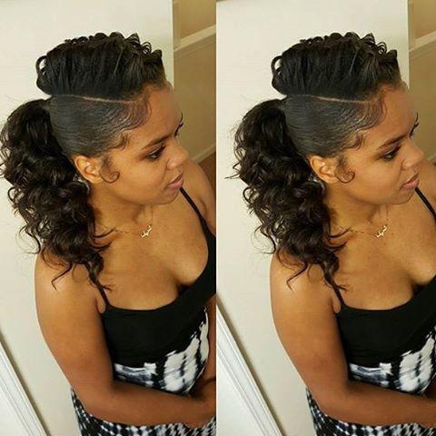 Best 25 Black Ponytail Hairstyles Ideas On Pinterest