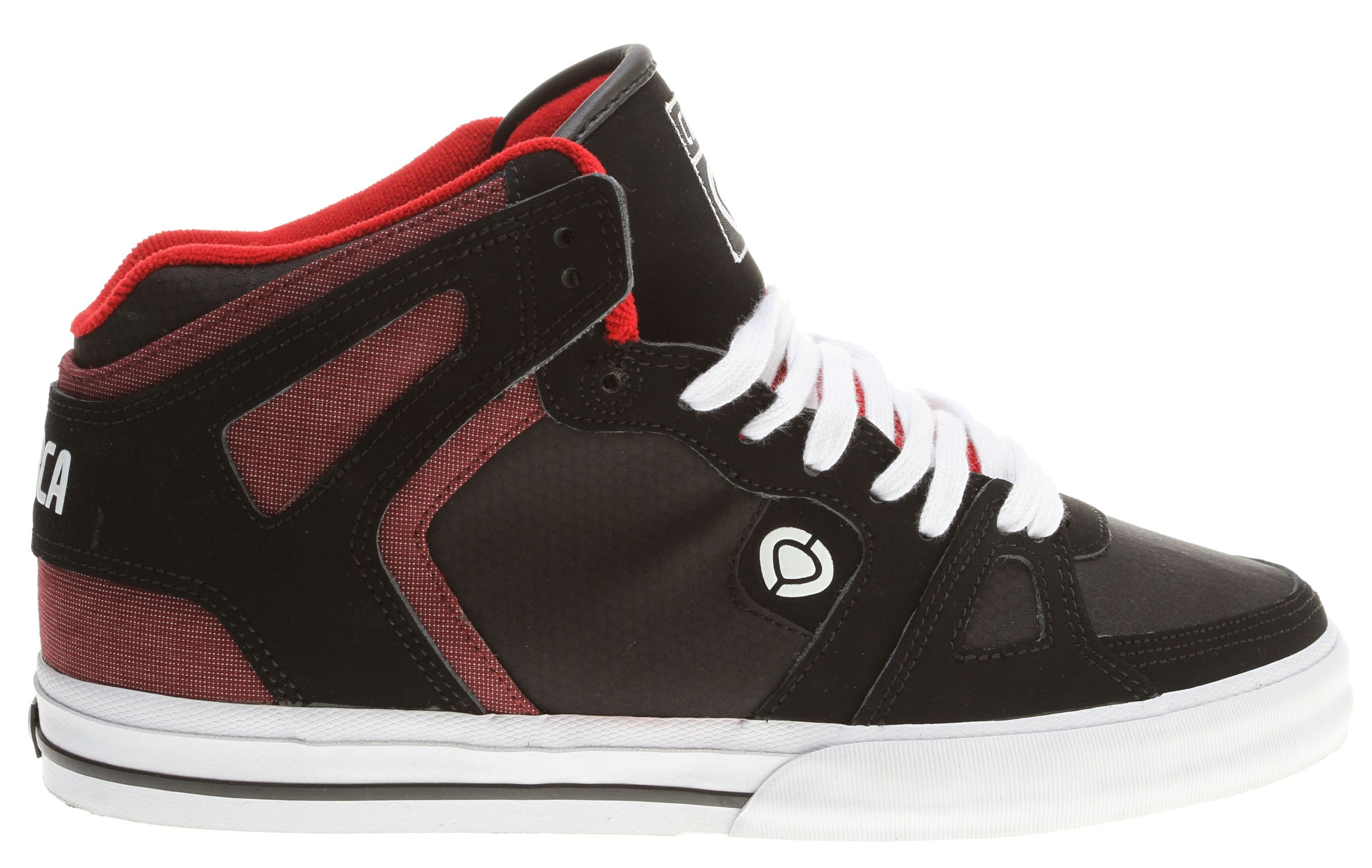 Circa 99 Vulc Skate Shoes Black/Red Dobbi - Mens