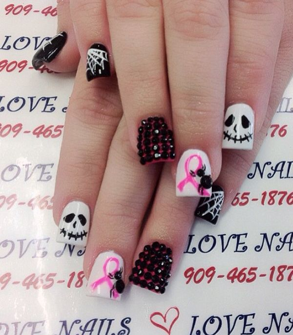65 Halloween Nail Art Ideas Cancer Nails Halloween Nails Gothic Nails