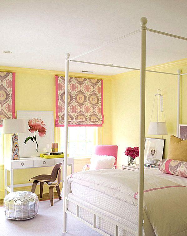 Cool Room Ideas For Girls Girl Room Contemporary Bedroom Bedroom Design Yellow pink bedroom ideas