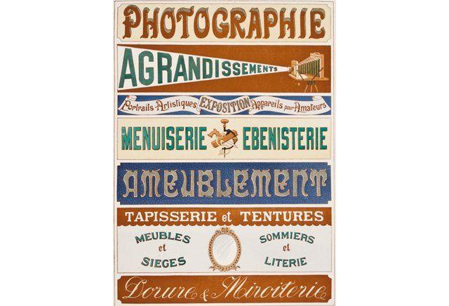 Modèles d'Enseignes et Inscriptions par A. Charayron & Leon Durand, 1899'…
