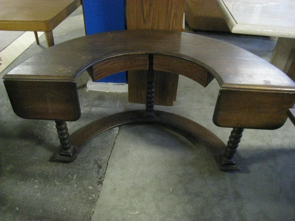 Semi Round Desk With Drawers