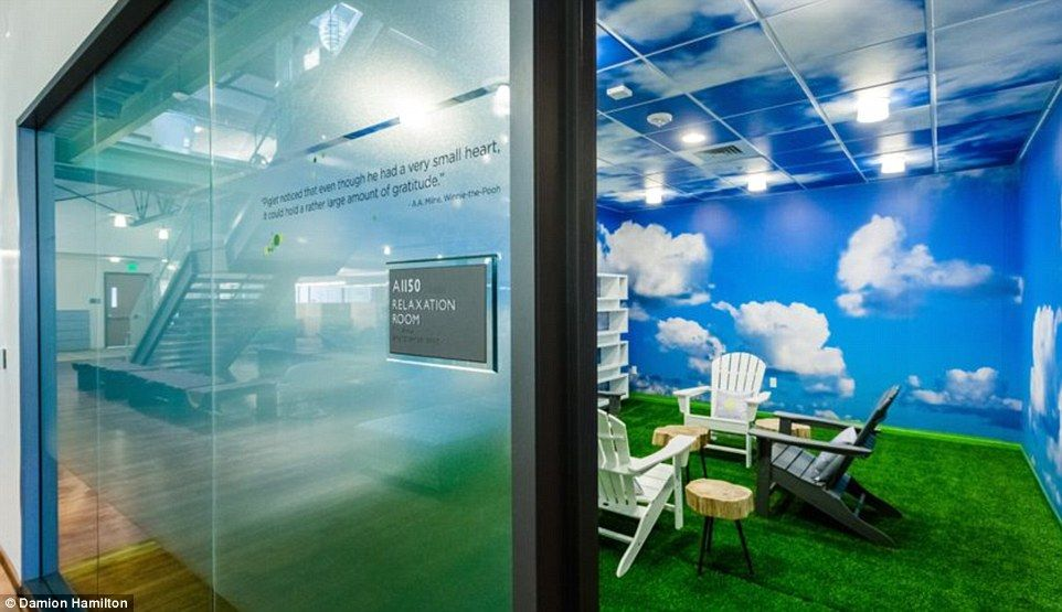 software company office. time out californiabased software company vmware installed a dedicated rest and relaxation space called u0027the cloud roomu0027 where tired workers can doze off office k