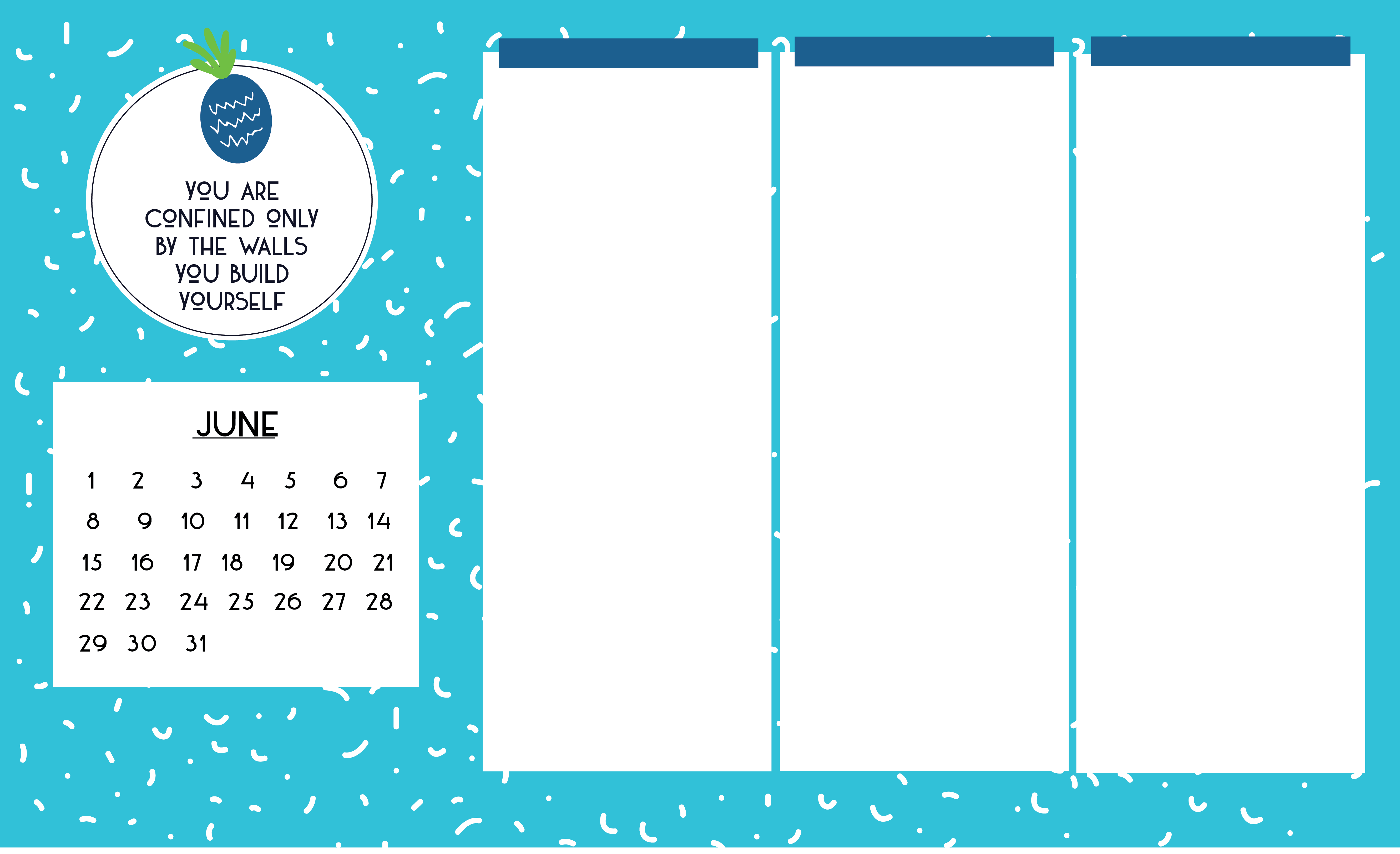 desktop organizer wallpaper background changecover the month add titleheaders in