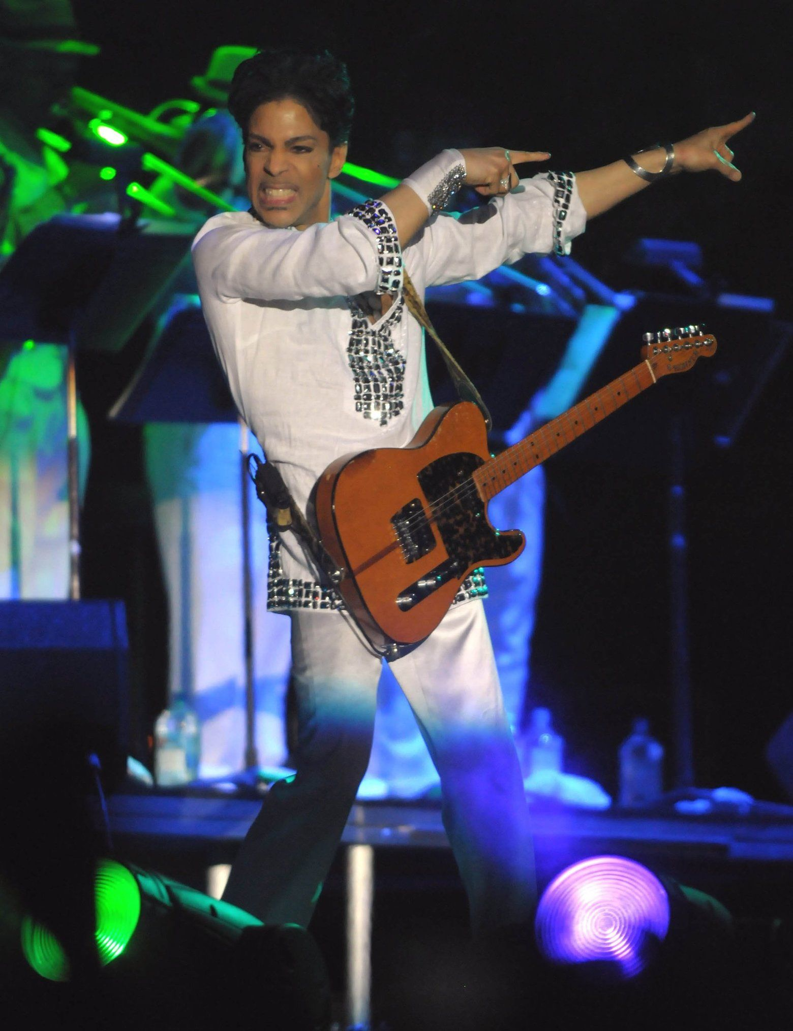 Prince performs at Coachella Valley Music and Arts Festival on April 26, 2008, in Indio, Calif. The musician was found dead in his home in Chanhassen, Minn., on Thursday.