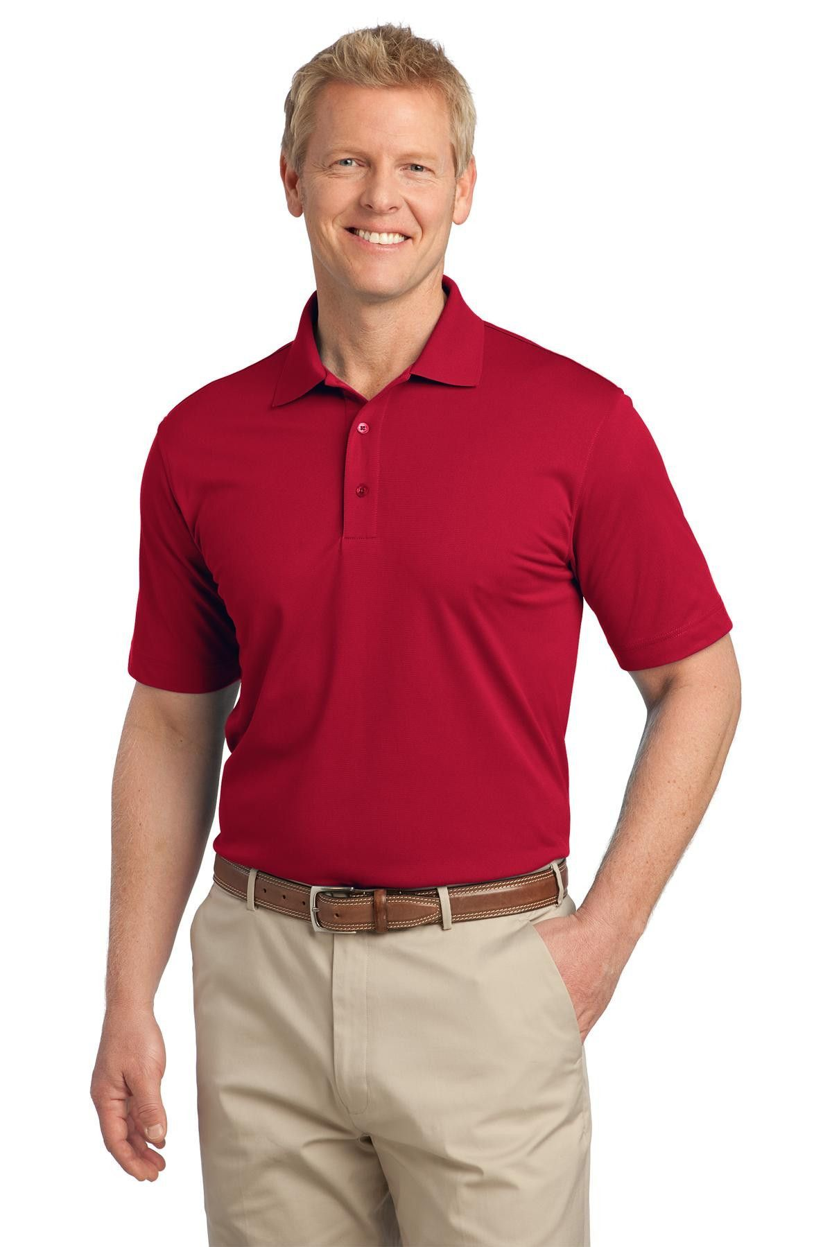 Port Authority Tall Tech Pique Polo TLK527 Rich Red
