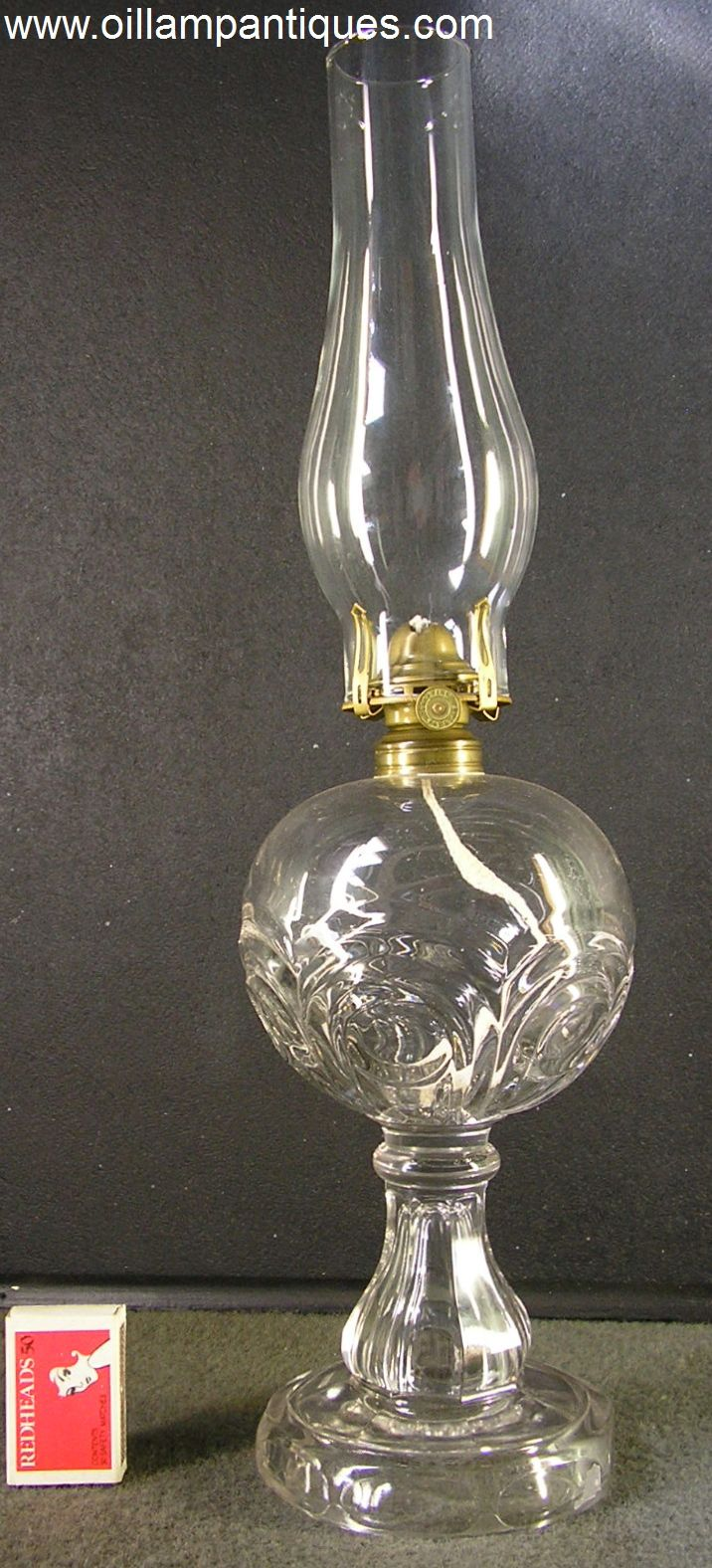 Regent antiques lights antique victorian oil lamp c 1860 - The Pattern Of This Antique Glass Oil Lamp Is Panelled Bullseye A Number Of Lamps With This Pattern Are Shown In Catherine Thuro S First Book On Oil Lamps