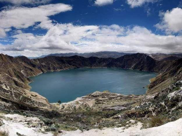 Quilotoa Crater Lake, Ecuador  (photo:Annom )