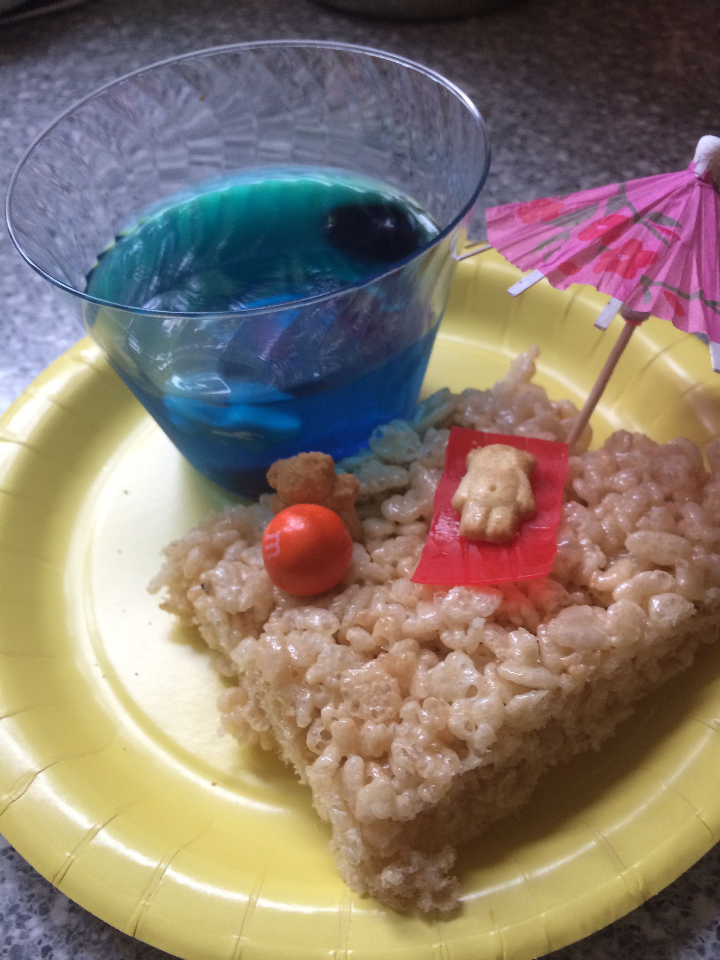 Beach Themed Snack For Kids With Images Beach Party Snacks