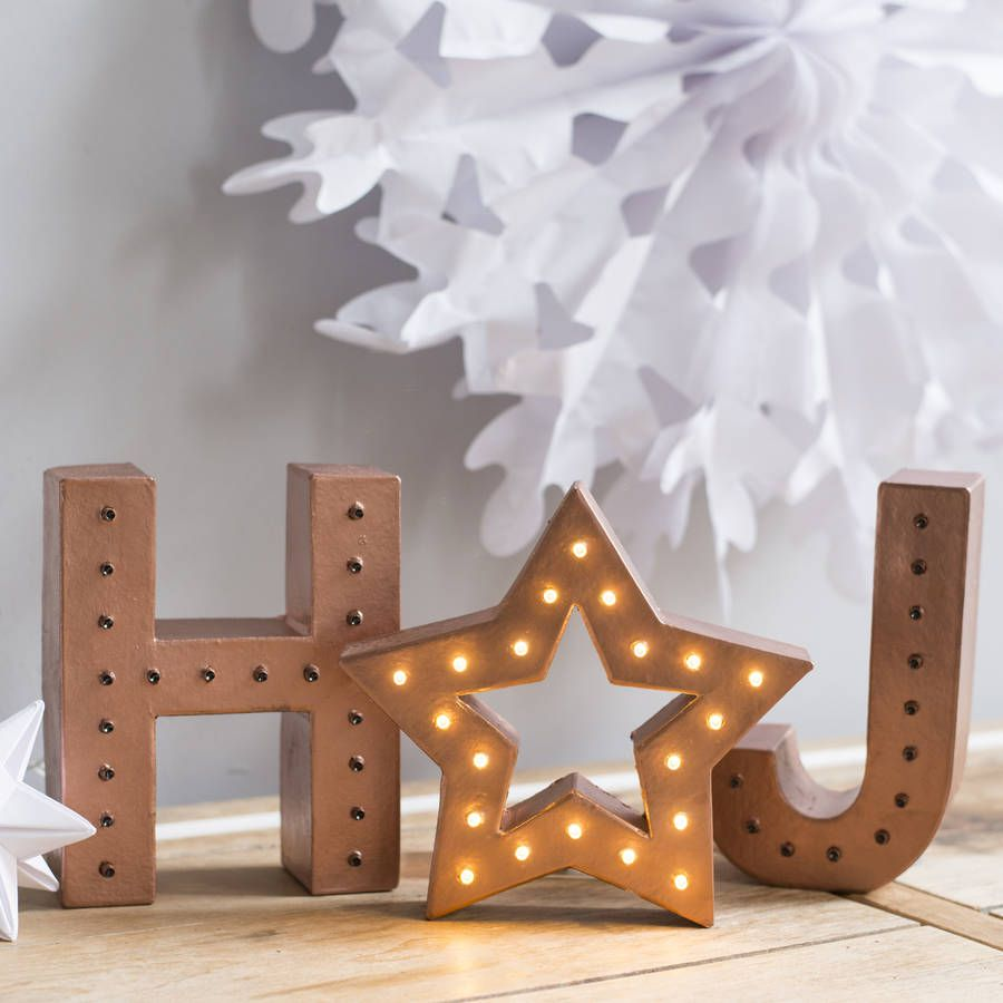 Handmade Light Up Letters With Marquee Star | Marquee lights ...