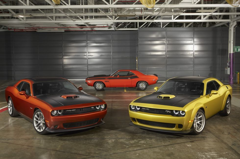 The 2020 Dodge Challenger 50th Anniversary Edition Is Extremely Gold Dodge Challenger Dodge Challenger