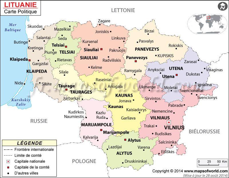 Lituanie Carte | Carte du Monde | Pinterest | Lithuania