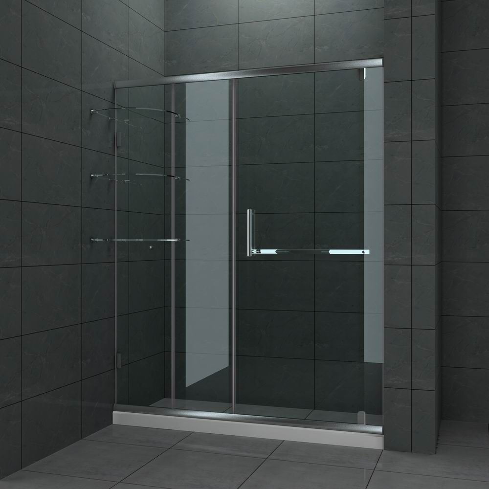 Glass showers bear glass framed sliding glass shower door bear glass inc shower - Types of showers for your home ...