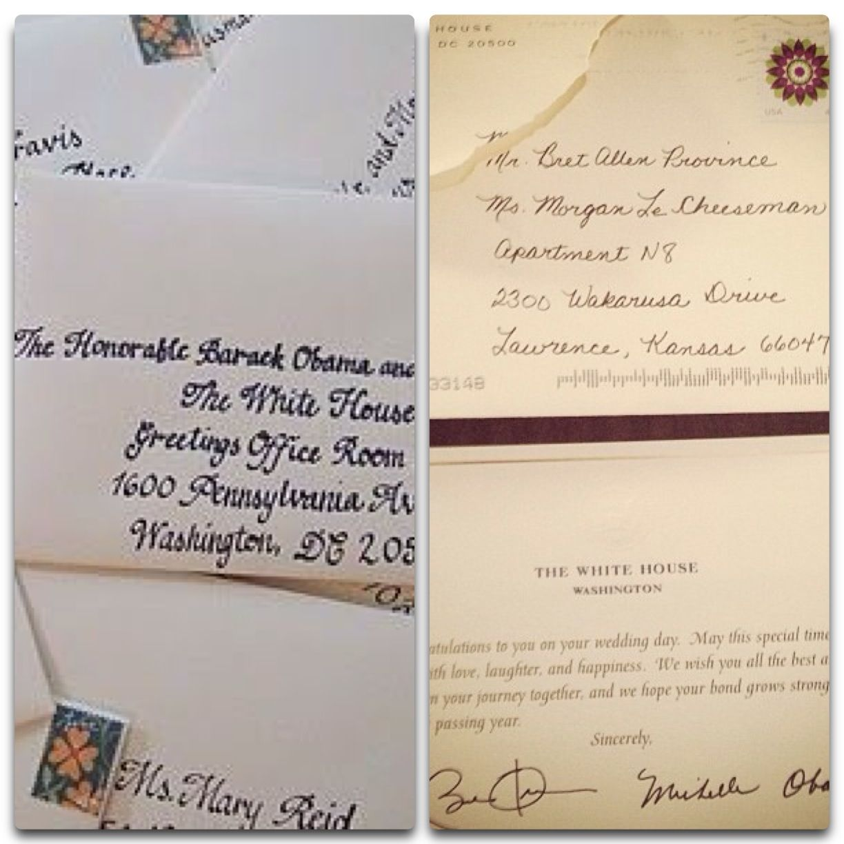If you send a wedding invitation to the President, you will receive ...