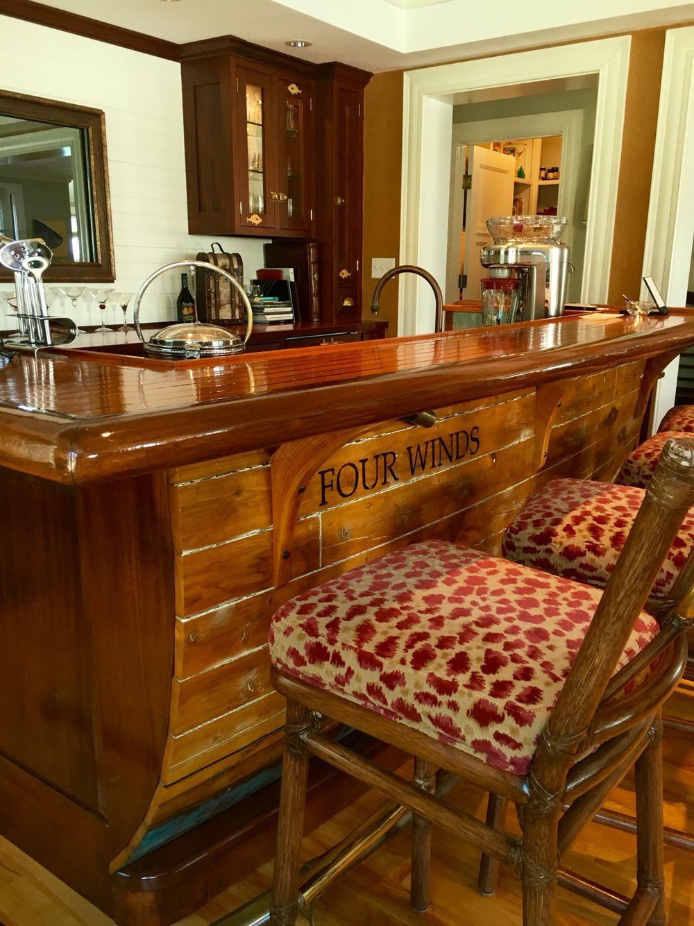 Boat Bar Custom Built Made From An Old Wooden