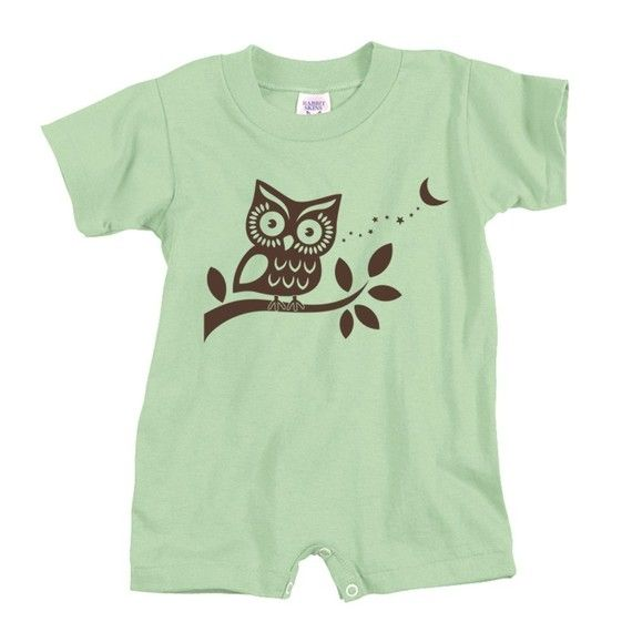 Owl Get You Baby Romper 5 Colors by Deadworry on Etsy, $14.00