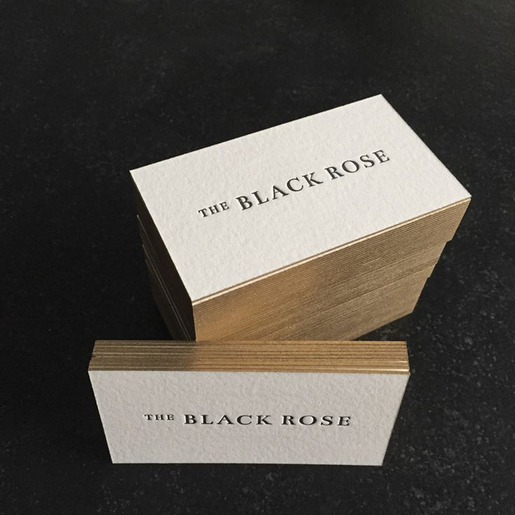 The Black Rose business cards / Paper & Type and PresshausLA ...
