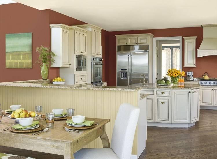 Kitchen Paint Ideas With Cream Cabinets | Dining room ...