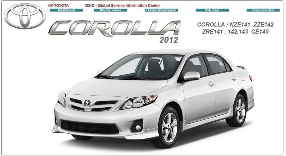 toyota corolla 2012 repair service manual: toyota corolla 2012 repair  service manual