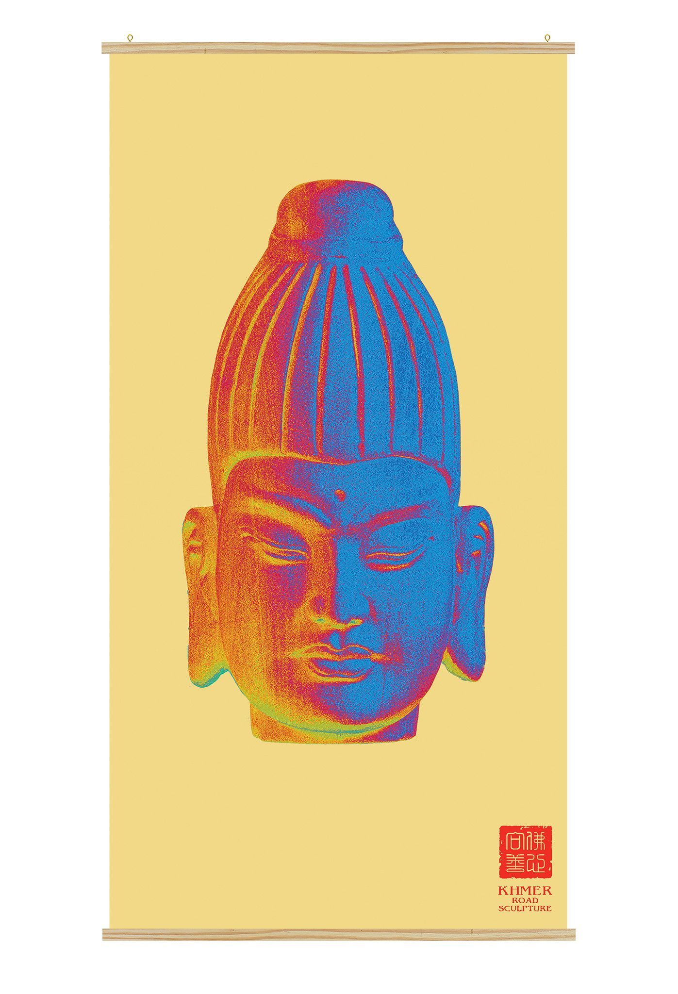 Buddha Wall Art - Burmese Colorful Kakemono scrolling poster CK-003 ...