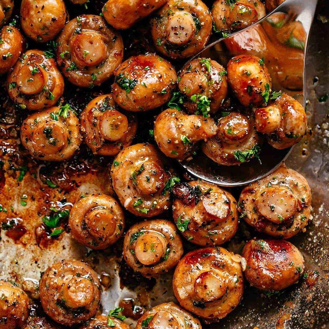 Buttery Garlic Mushroom. ...