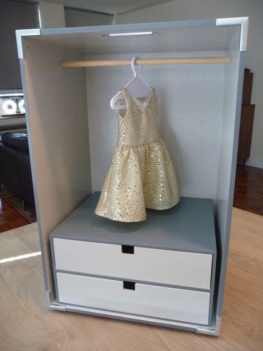 Ikea Hacked Doll Closet Doll Clothes Storage Ideas Doll Storage American Girl Doll Diy