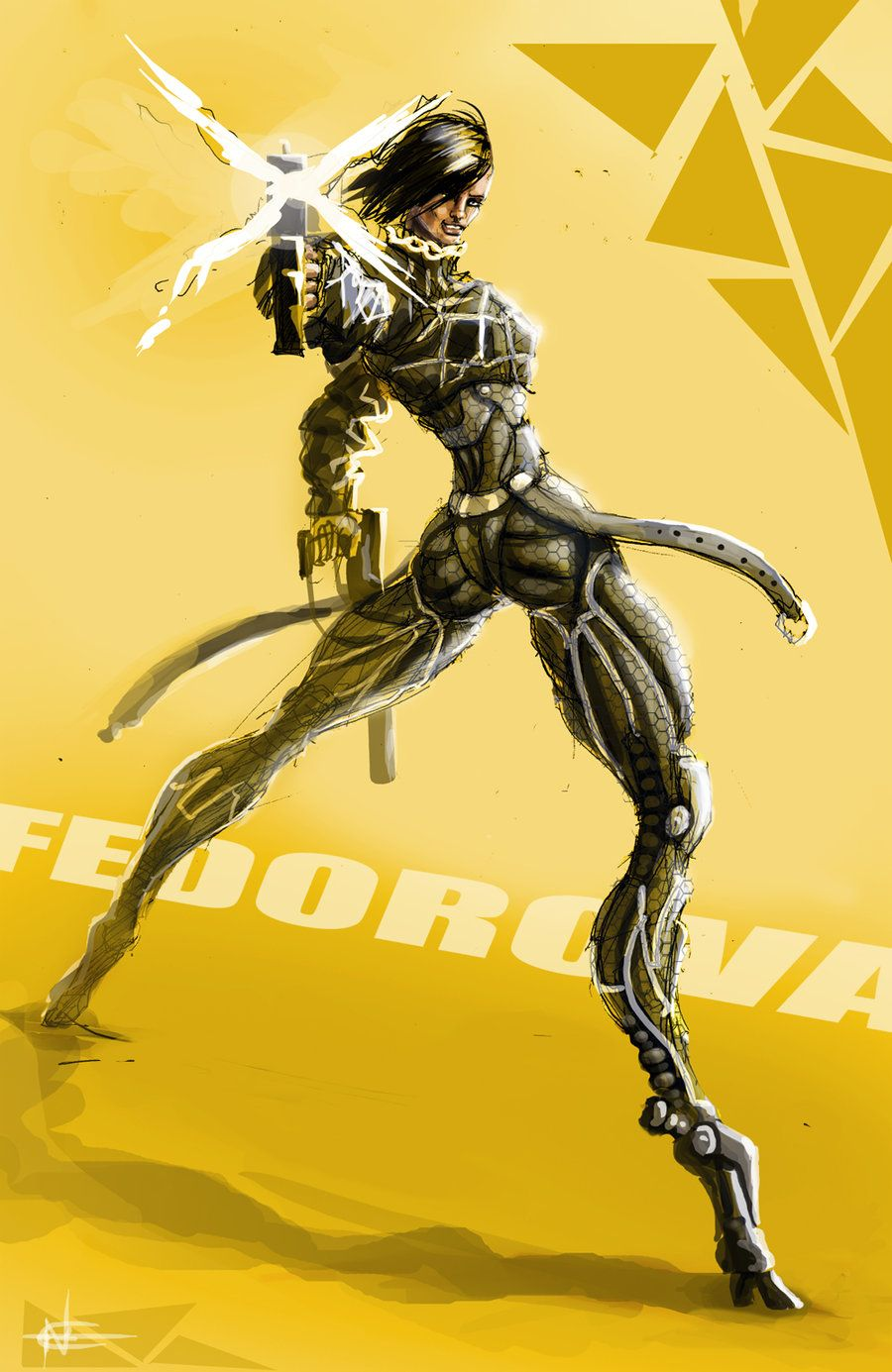 Deus Ex HR: Fedorova by AspectusFuturus.deviantart.com on @deviantART