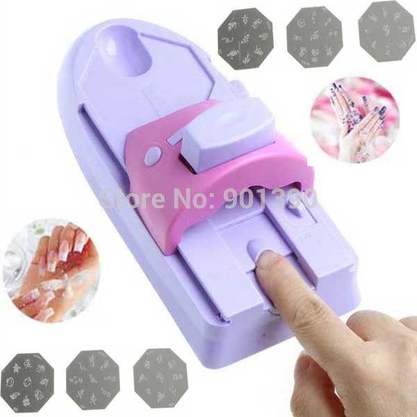 DIY Nail Art Tool machine stamping printing Colors Drawing polish ...