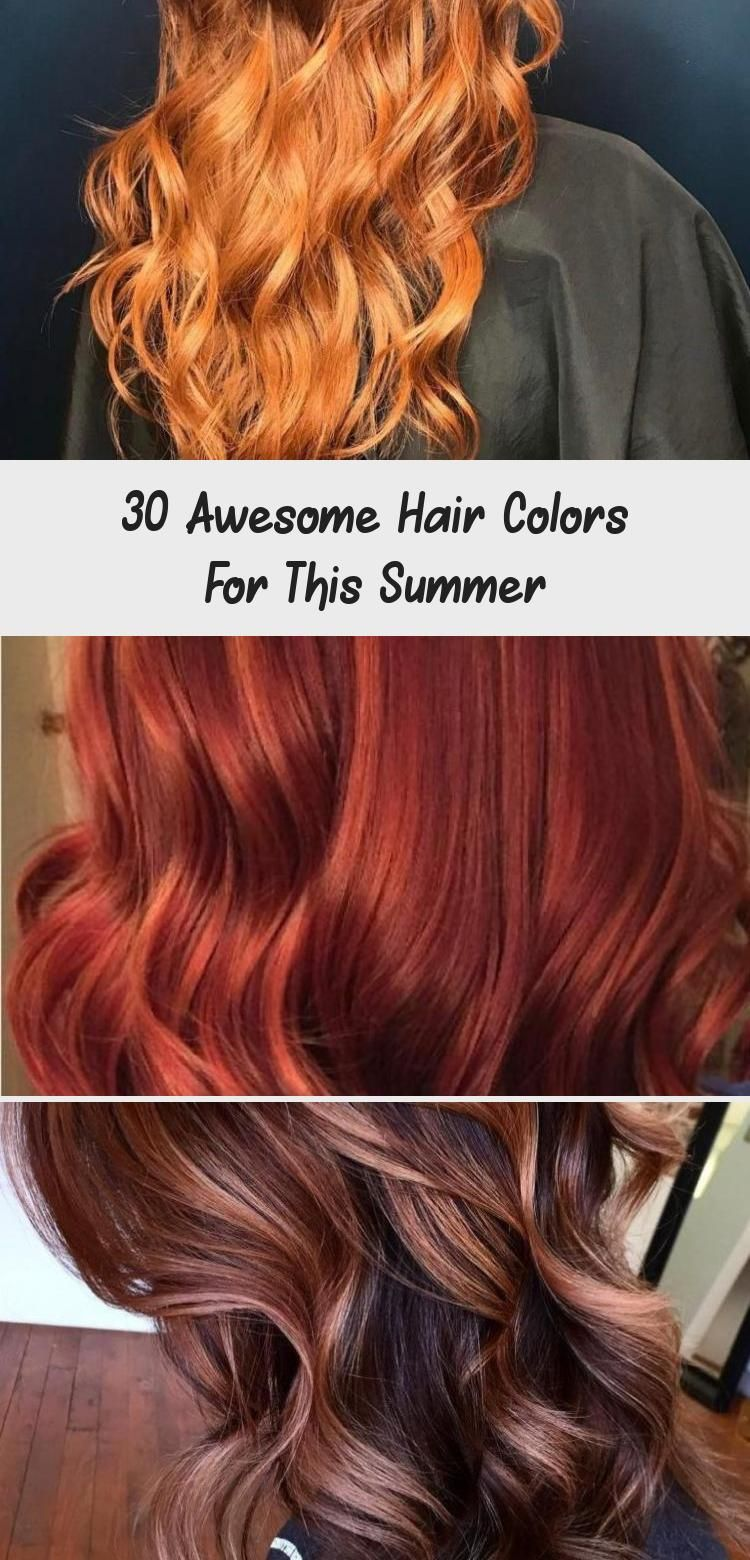 30 Awesome Hair Colors For This Summer Hair Color Ideas Balayagehairmiel Balayagehaircopper Balayagehairdiy Bala In 2020 Cool Hairstyles Cool Hair Color Hair Color