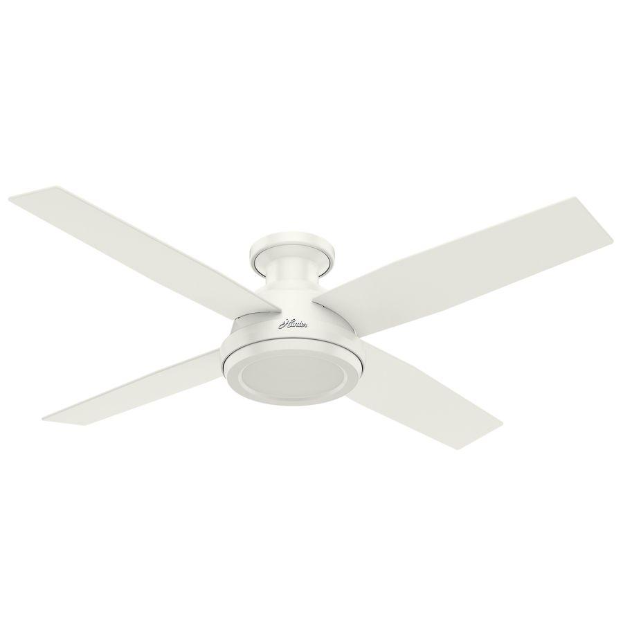 White Flush Mount Indoor Ceiling Fan