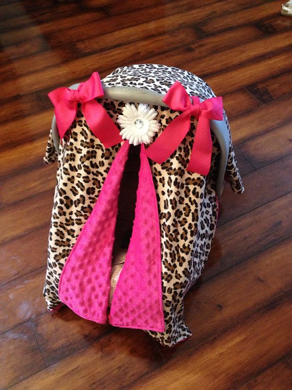 Leopard and Hot Hot pink car seat canopy by CoverMeInLoVe on Etsy & Leopard and Hot Hot pink car seat canopy by CoverMeInLoVe on Etsy ...