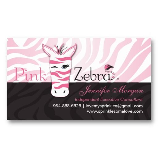 Pink Zebra Business Card Zazzle Com In 2021 Pink Zebra Business Card Pattern Pink Zebra Consultant