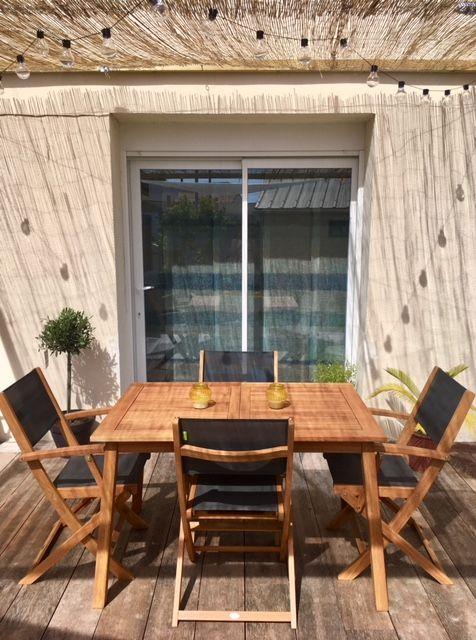 Almeria : Table De Jardin En Bois Extensible 120-180cm, 2