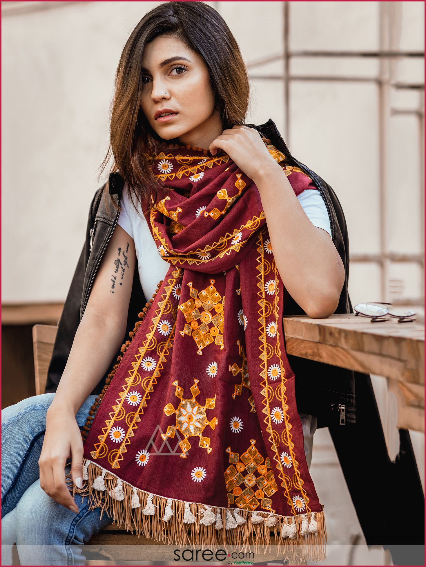Pin On Dupatta And Stole Designs