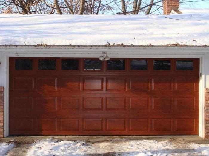 stained premium clopay | Garage service door, Garage doors ...