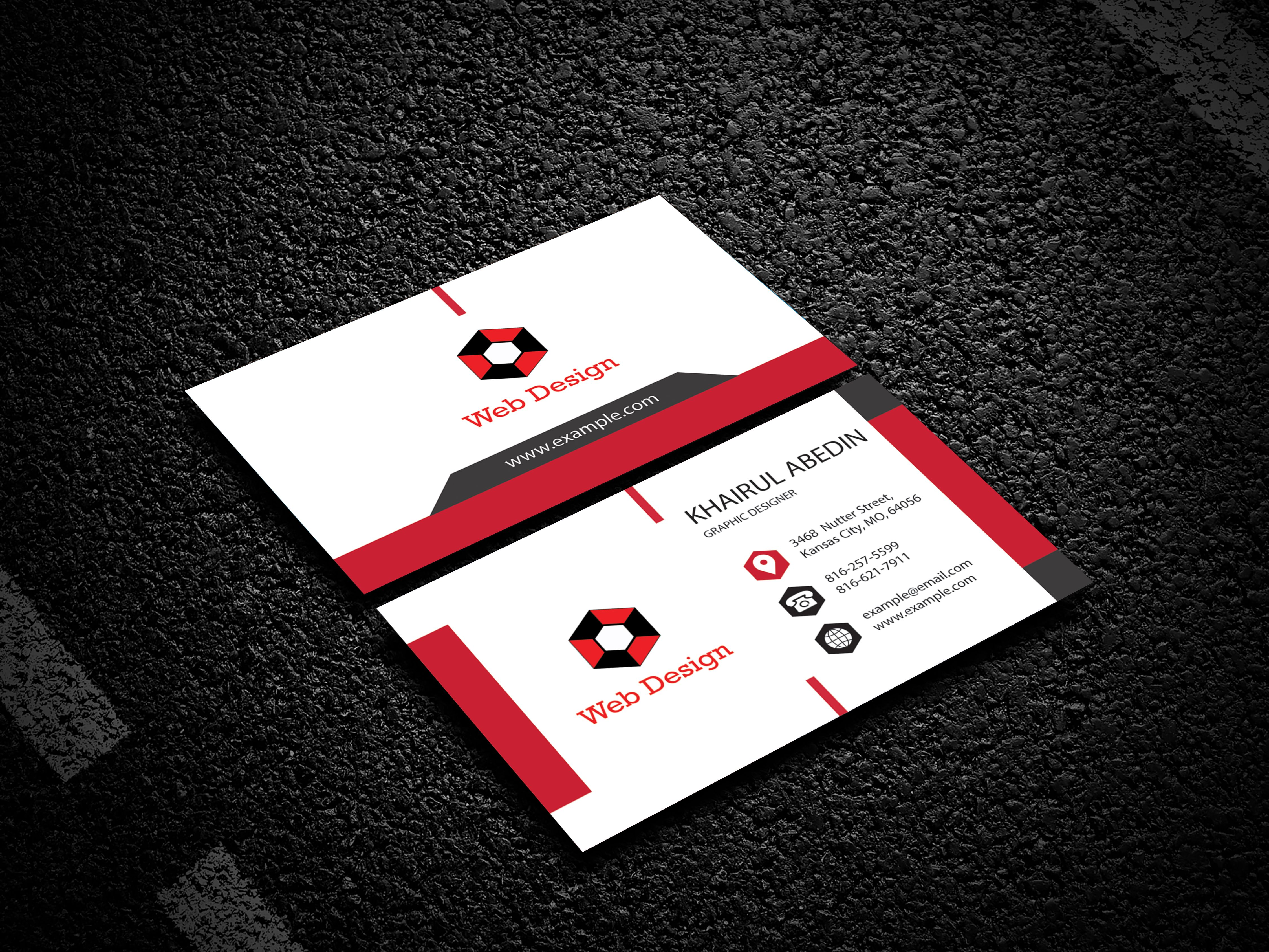 Professional Business Card Business Card Design Double Sided Business Cards Professional Business Cards