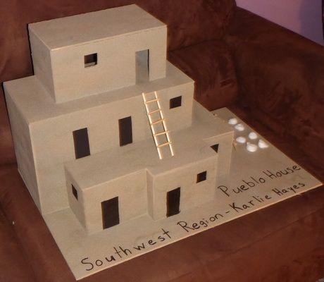 Southwestern Region Native American Pueblo House Project Karlie Recently Did A Social Studies Project For Sc Pueblo House School Projects Native Americans Unit