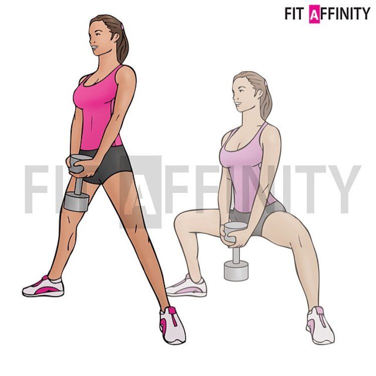 Pile Squats Muscles Worked Legs Glutes Hold A Dumbbell