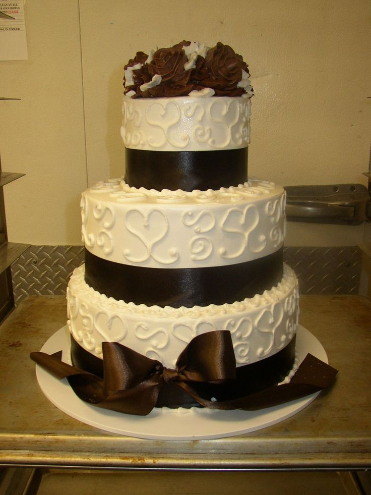 wedding cakes with ribbons and bows | cake with ribbon and bow ...
