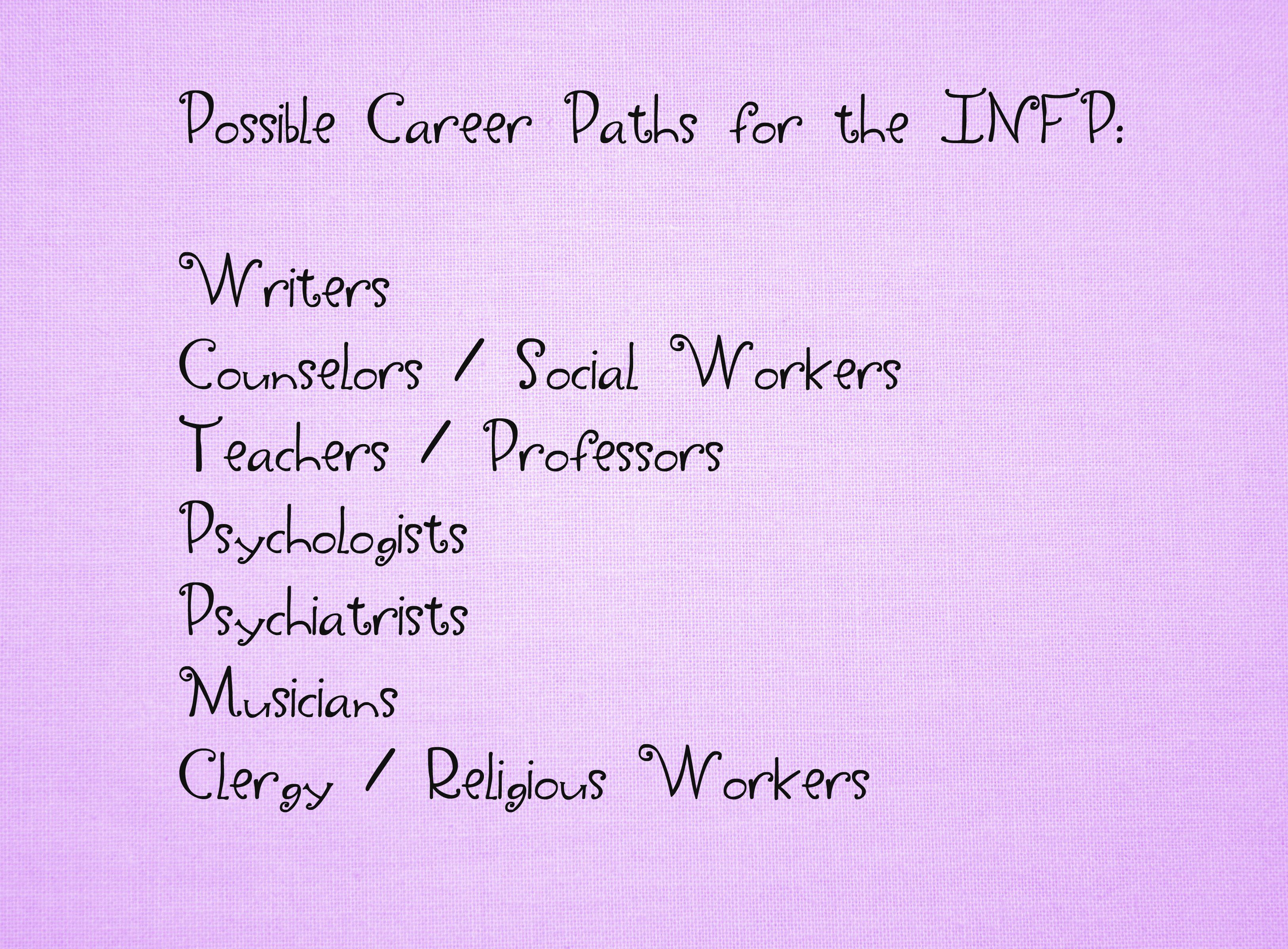 Careers For Infp Personality Type Infp Infp Personality Careers Infp Personality Type